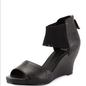 Eileen Fisher Corona Mid-Wedge Ankle-Cuff Sandals